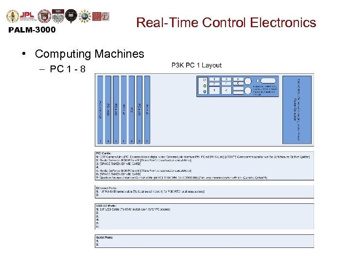 PALM-3000 Real-Time Control Electronics • Computing Machines – PC 1 - 8