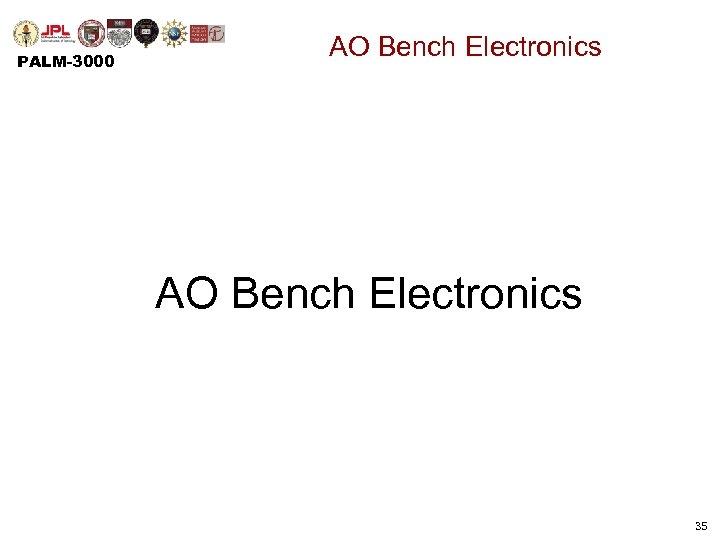 PALM-3000 AO Bench Electronics 35