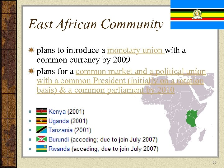 East African Community plans to introduce a monetary union with a common currency by