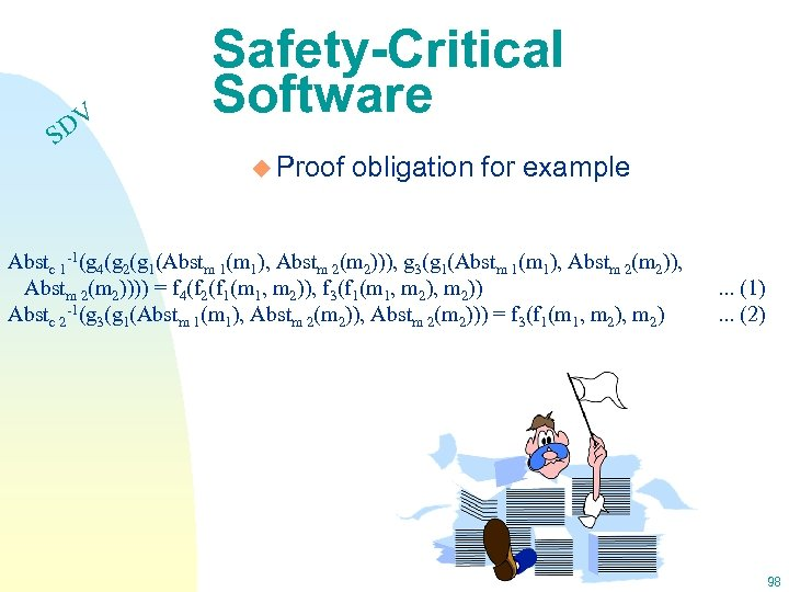 DV S Safety-Critical Software u Proof obligation for example Abstc 1 -1(g 4(g 2(g