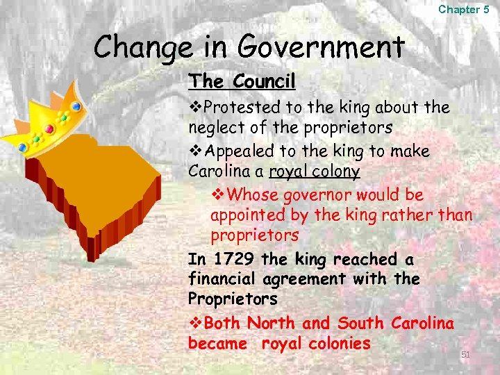 Chapter 5 Change in Government The Council v. Protested to the king about the