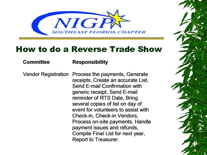 How to do a Reverse Trade Show