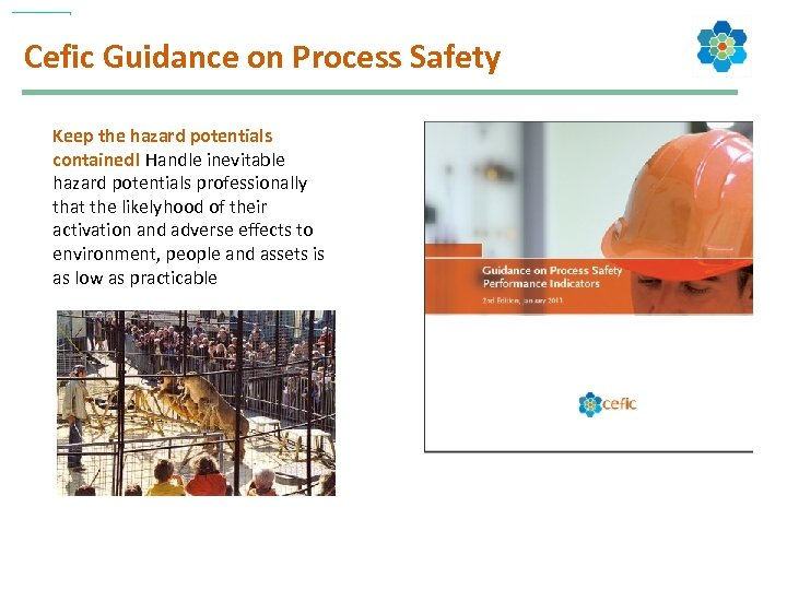 Cefic Guidance on Process Safety Keep the hazard potentials contained! Handle inevitable hazard potentials