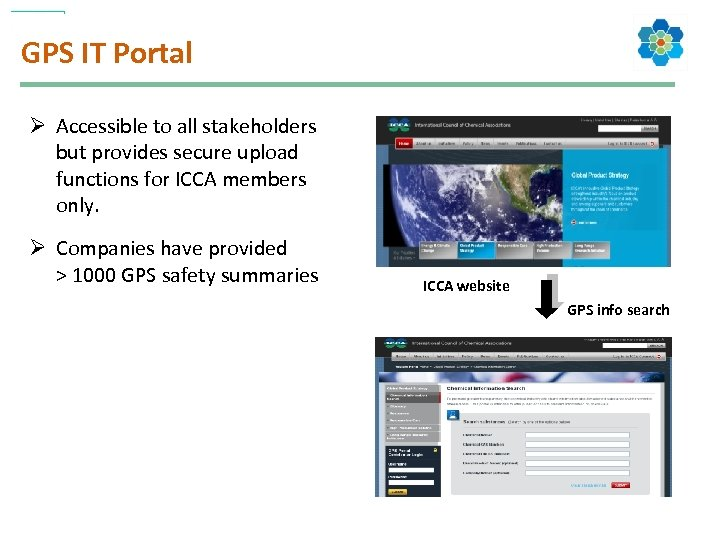 GPS IT Portal Ø Accessible to all stakeholders but provides secure upload functions for