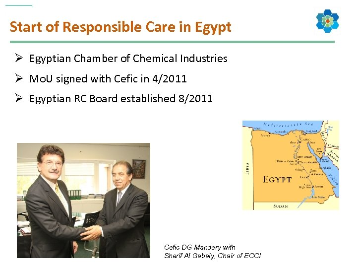 Start of Responsible Care in Egypt Ø Egyptian Chamber of Chemical Industries Ø Mo.