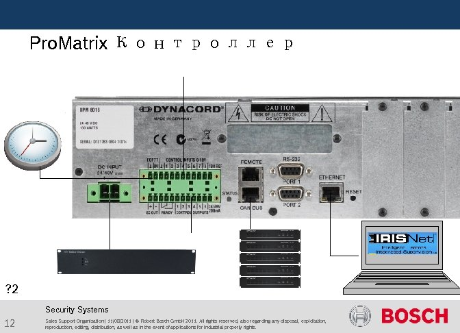 Pro. Matrix Контроллер ? 2 Security Systems 12 Sales Support Organization | 11/08/2011
