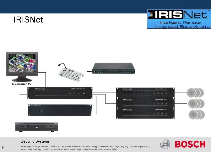 IRISNet Touchscreen PC Security Systems 6 Sales Support Organization | 11/08/2011 | ©