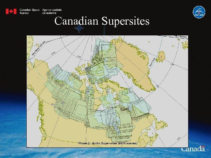 Canadian Supersites Phase 3 - Arctic Super-sites (4038 scenes)