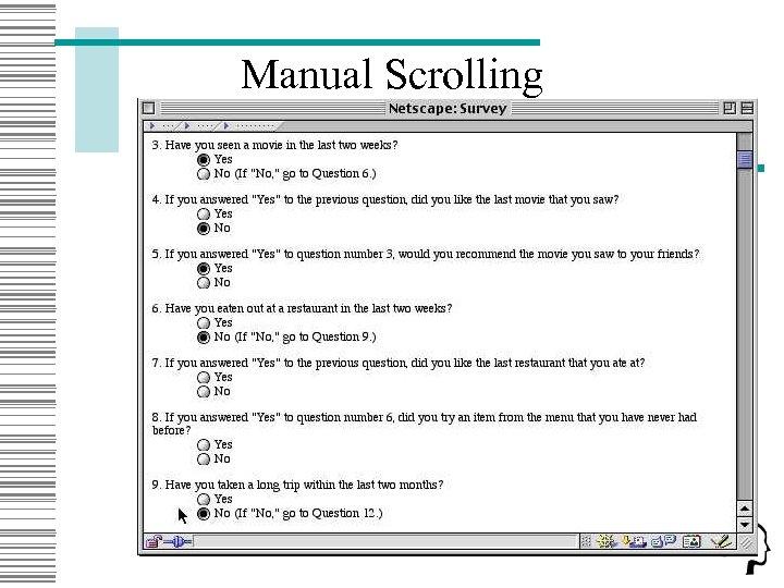 Manual Scrolling