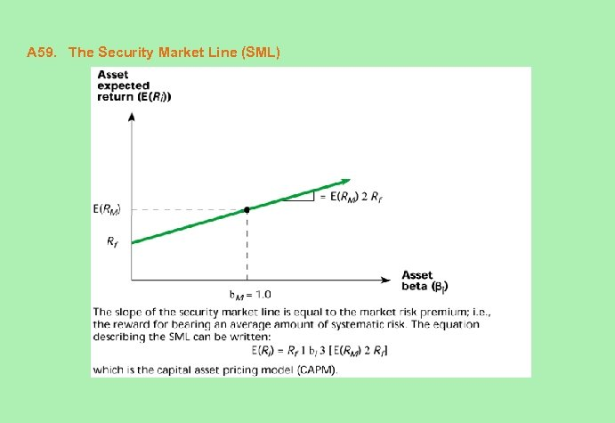 A 59. The Security Market Line (SML)
