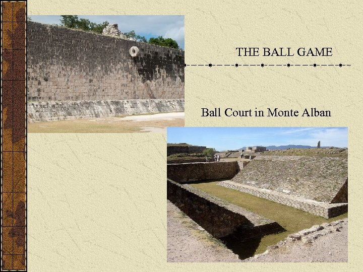 THE BALL GAME Ball Court in Monte Alban