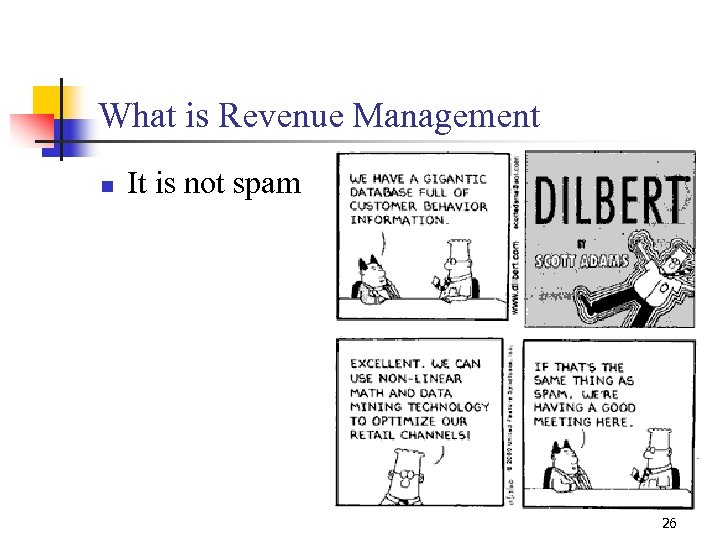 What is Revenue Management n It is not spam 26