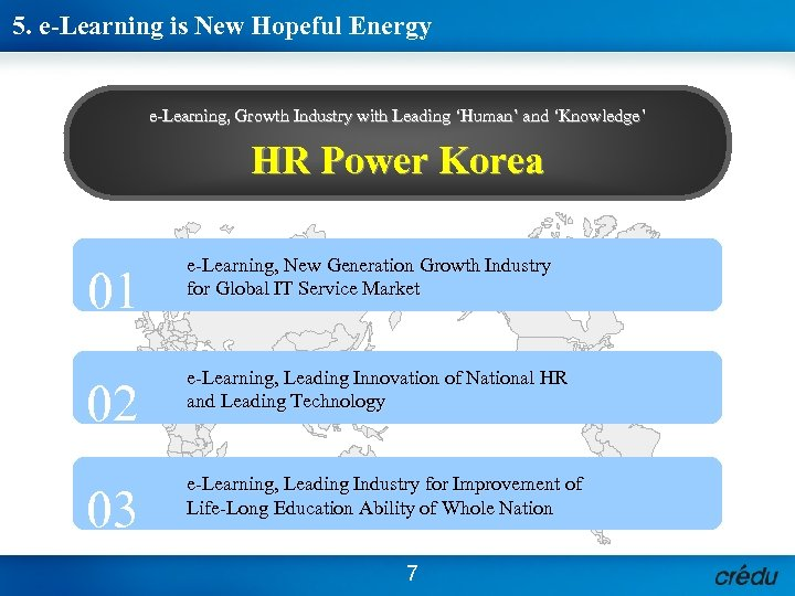 5. e-Learning is New Hopeful Energy e-Learning, Growth Industry with Leading 'Human' and 'Knowledge'