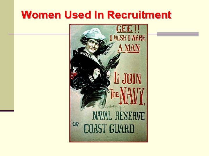 Women Used In Recruitment