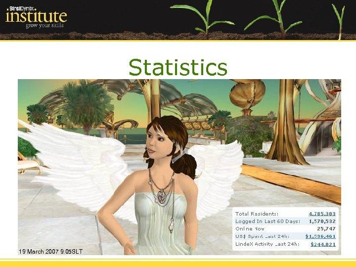 Statistics 19 March 2007 9: 05 SLT