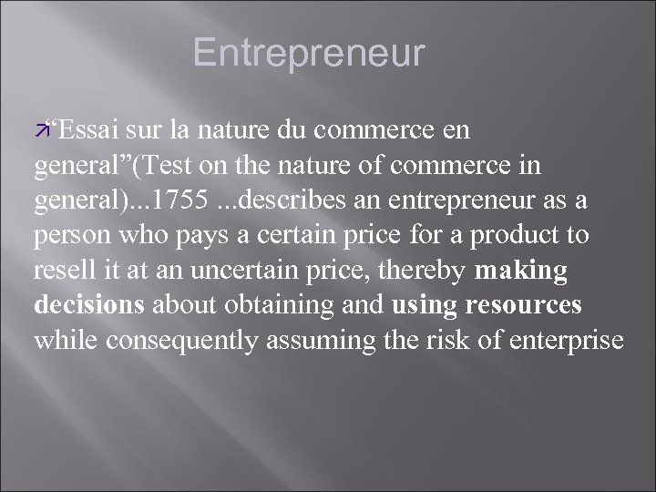 """Entrepreneur ä """"Essai sur la nature du commerce en general""""(Test on the nature of"""