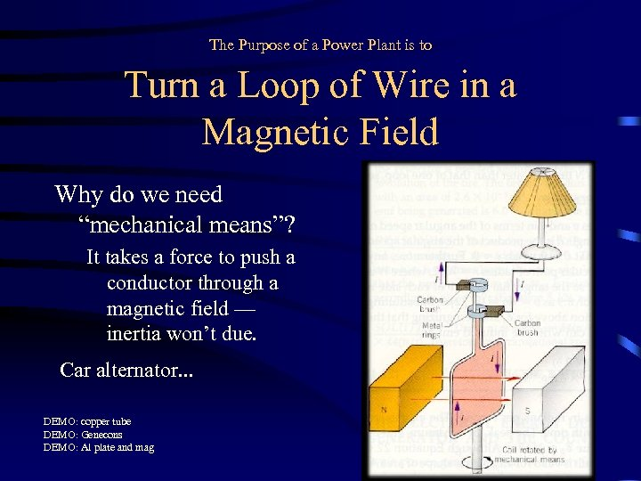 The Purpose of a Power Plant is to Turn a Loop of Wire in