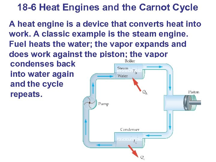 18 -6 Heat Engines and the Carnot Cycle A heat engine is a device