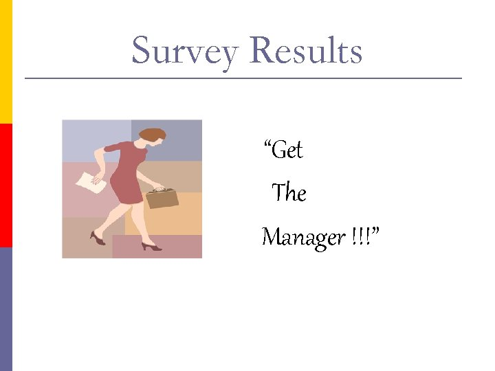 """Survey Results """"Get The Manager !!!"""""""