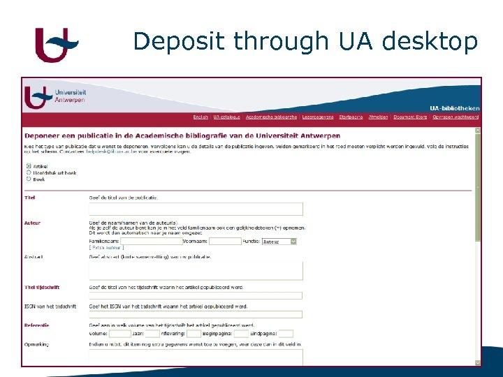 Deposit through UA desktop 9