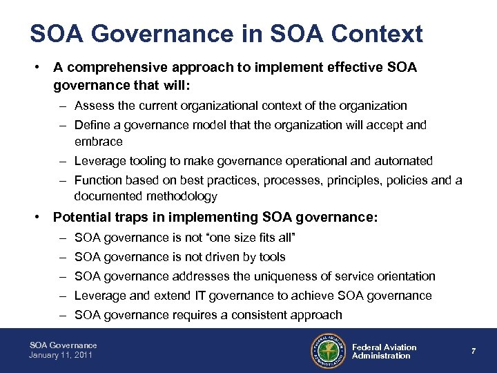 SOA Governance in SOA Context • A comprehensive approach to implement effective SOA governance