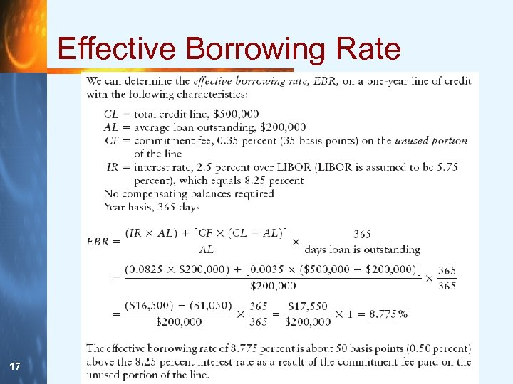 Effective Borrowing Rate 17