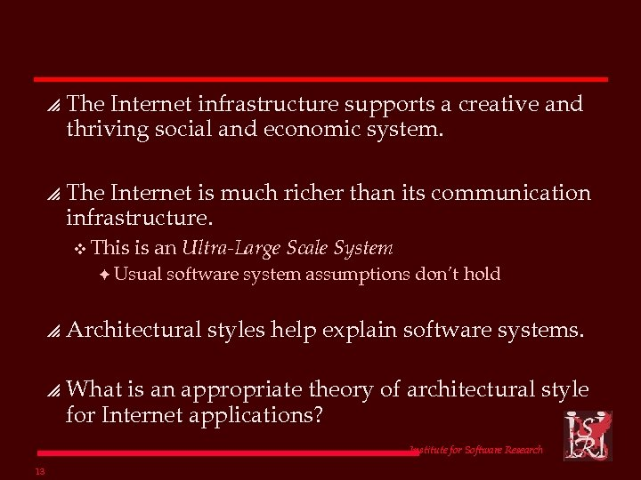 p The Internet infrastructure supports a creative and thriving social and economic system. p