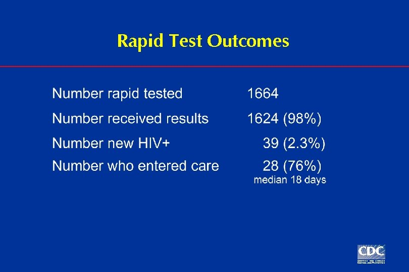 Rapid Test Outcomes