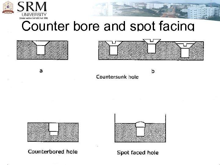 Counter bore and spot facing