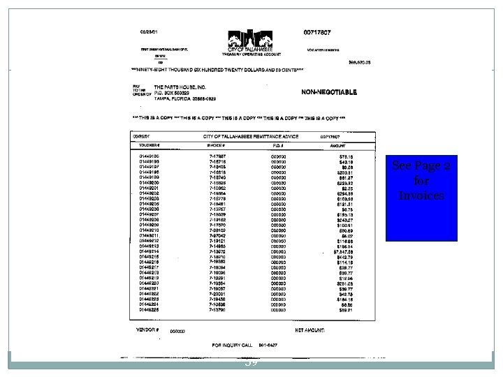 See Page 2 for Invoices 59