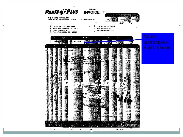 Notice instructions Valid Invoice 61
