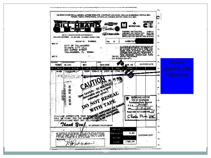 Invoice Altered with Whiteout 66
