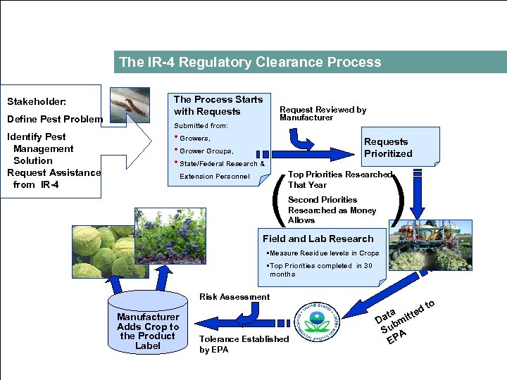The IR 4 Regulatory Clearance Process Stakeholder: Define Pest Problem Identify Pest Management Solution