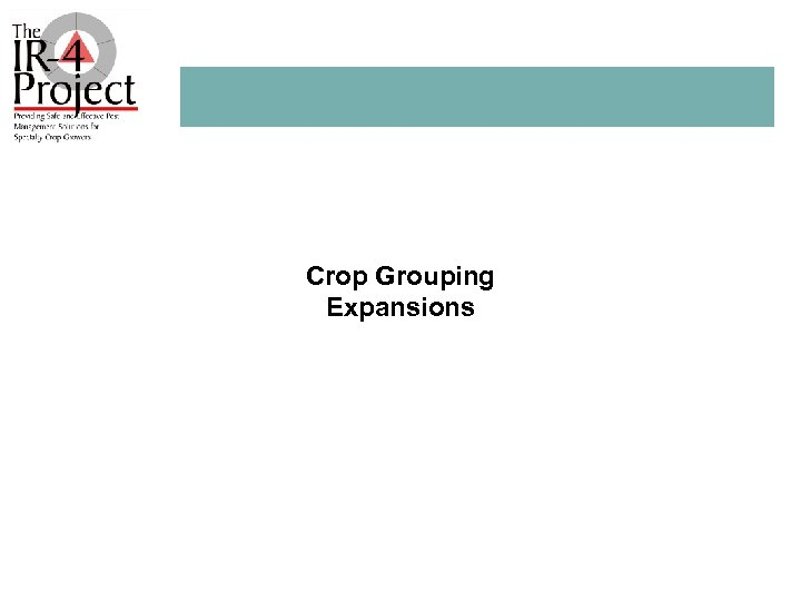 Crop Grouping Expansions