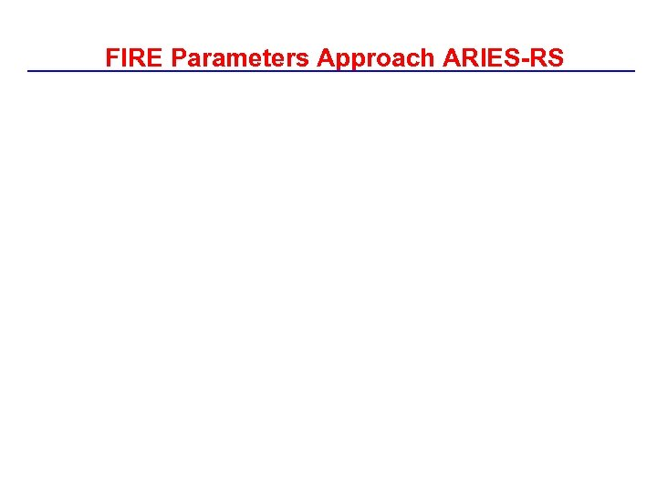 FIRE Parameters Approach ARIES-RS