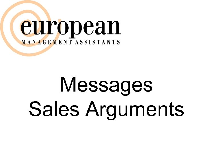 Messages Sales Arguments