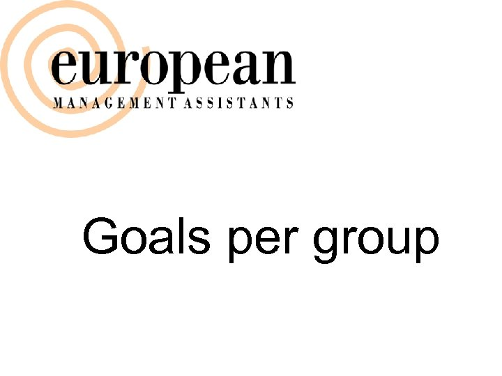 Goals per group