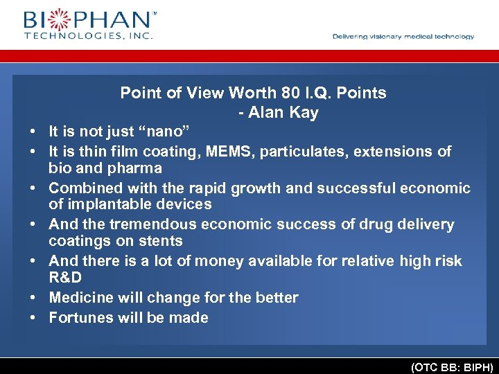 Point of View Worth 80 I. Q. Points - Alan Kay • It is