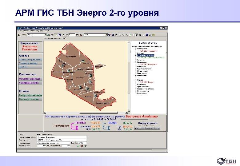 АРМ ГИС ТБН Энерго 2 -го уровня 32