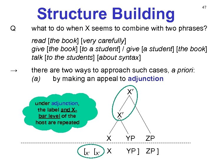 Structure Building Q 47 what to do when X seems to combine with two