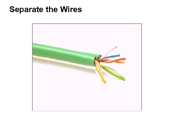 Separate the Wires