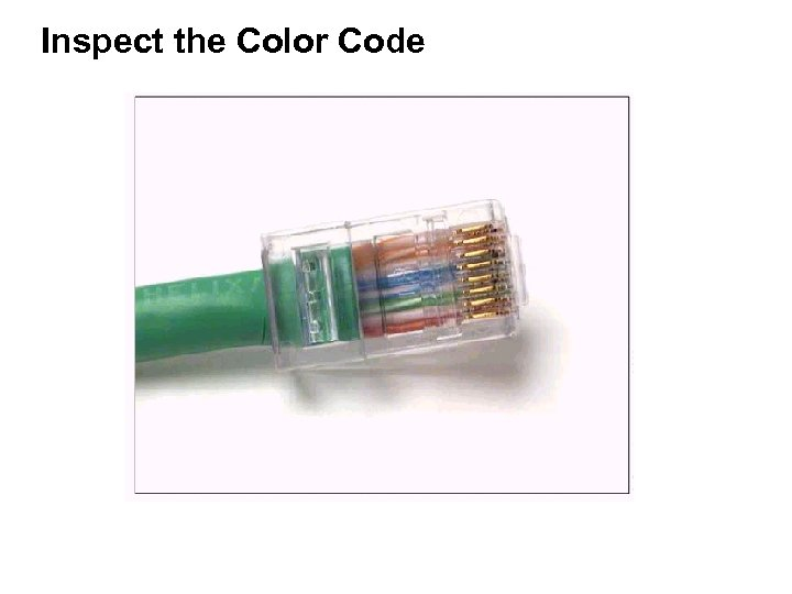 Inspect the Color Code