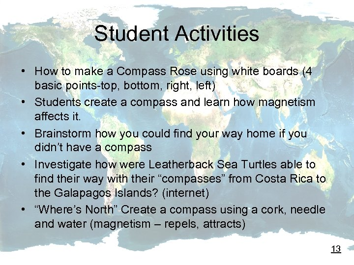 Student Activities • How to make a Compass Rose using white boards (4 basic
