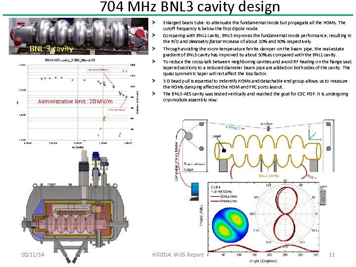 704 MHz BNL 3 cavity design Ø Ø BNL 3 cavity Ø Ø Administrative