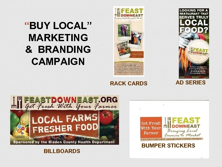 """""""BUY LOCAL"""" MARKETING & BRANDING CAMPAIGN RACK CARDS BILLBOARDS AD SERIES BUMPER STICKERS"""