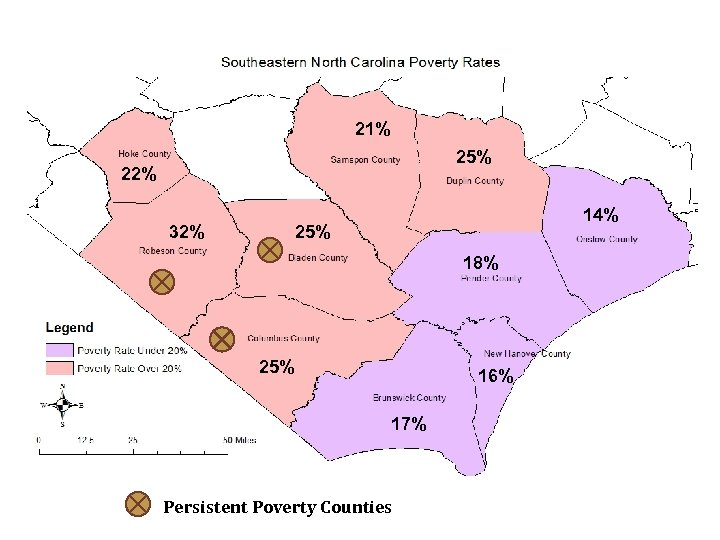 21% 25% 22% 32% 14% 25% 18% 25% 16% 17% Persistent Poverty Counties