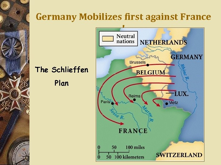 Germany Mobilizes first against France ! The Schlieffen Plan