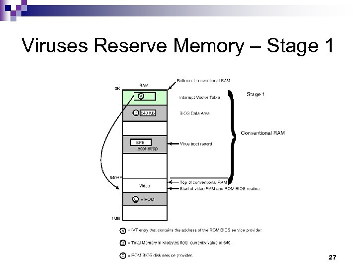Viruses Reserve Memory – Stage 1 27