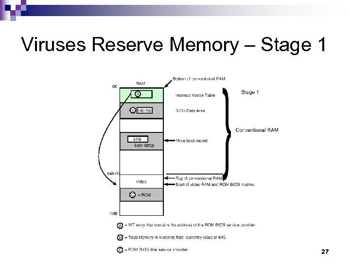 Viruses Reserve Memory – Stage 1 27