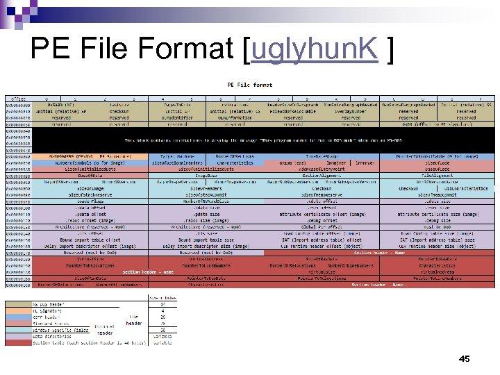 PE File Format [uglyhun. K ] 45